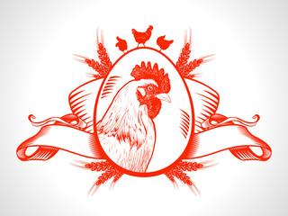 Farm fresh market symbol with hen.