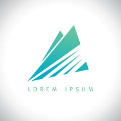 Azure mountains in sunshine logo.