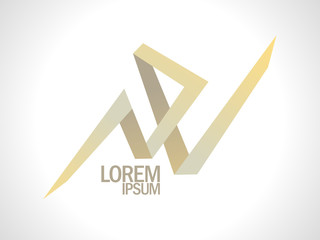 N and V gold letters logo.