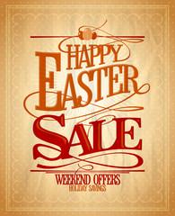 Easter sale, holiday savings design.