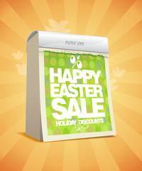 Easter sale design in form of tear-off calendar.