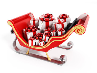 Santa's sleigh full of presents
