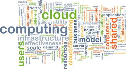 cloud computing wordcloud concept illustration
