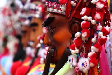 Holy generals parade on Matsu Temple Fair