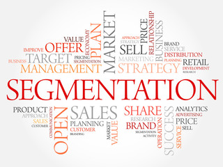 Segmentation word cloud, business concept