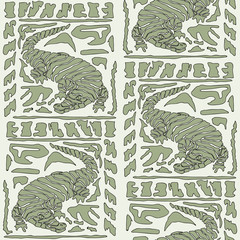 Seamless background with Crocodile Pattern