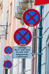 Schilder Halteverbot Innenstadt