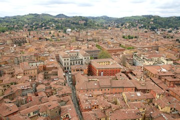 View to the Bologna streets