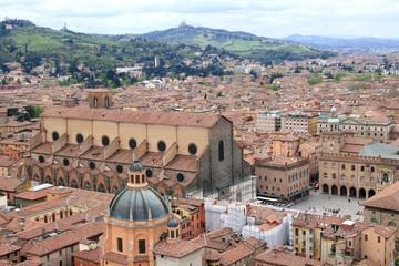Urban view of Bologna