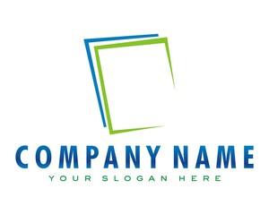 paper sheet logo image vector