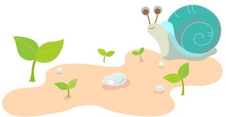 새싹과 달팽이
