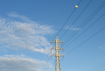 Electricity line - Stock image