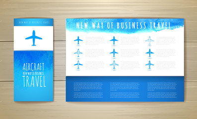 Airplane artistic document template