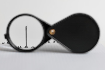 Magnifying glass in a frame