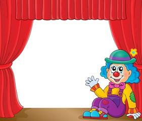 Sitting clown theme image 2