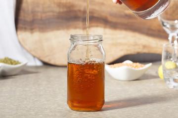 Lemon, Mint Flavour Ice Tea