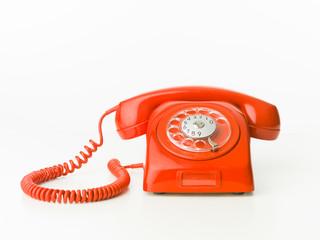 red vintage phone