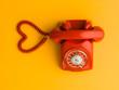 Leinwanddruck Bild - love is one phone call away
