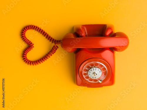 Leinwanddruck Bild love is one phone call away