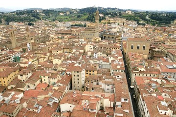 Panorama view of Florence in Italy