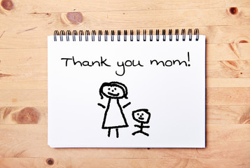 stick man background - drawing block - thank you mom