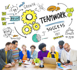 Teamwork Team Together Collaboration People Meeting Concept