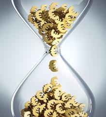 Zeit ist Geld - Sanduhr Closeup