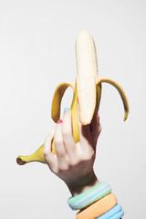 Healthy food concept banana