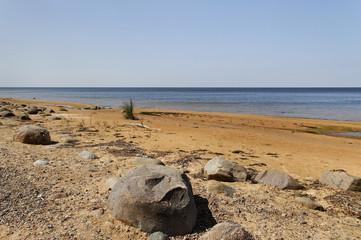 Stone coastline.
