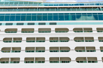 Open Balconies on a Cruise Ship