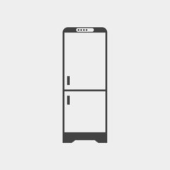Refrigerator monochrome icon