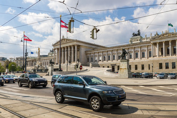 Австрийский парламент (Parlamentsgebäude). Вена. Австрия