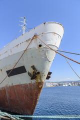 old fishing trawler on the dock