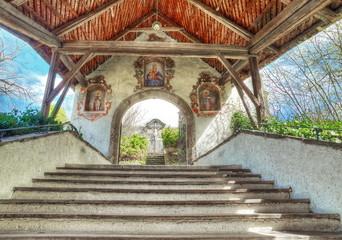 Treppenaufgang Kirche Maria Wörth / Kärnten / Österreich