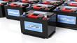 Leinwanddruck Bild - Car batteries, isolated on white background