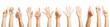 Viele Hände machen verschiedene Zeichen - 81712539