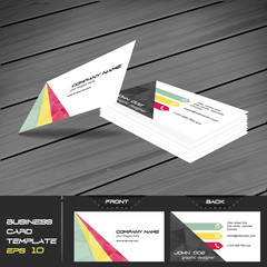 Business card template, editable vector design