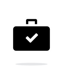 Check case simple icon on white background.