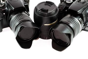 Spiegelreflexkamera mit Objektiv