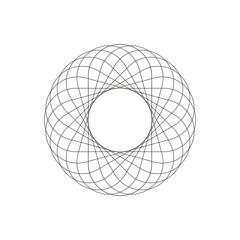 Geometric decoration shape circles, ornament line design
