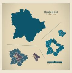 Modern Map - Budapest HU