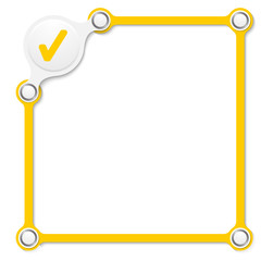 Vector yellow box for your text and check box