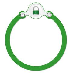 circular frame for your text and padlock
