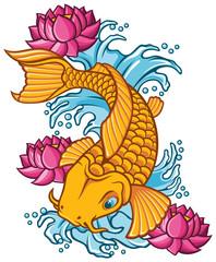 Golden Koi tattoo