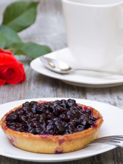 Blueberry Pie with Decoration