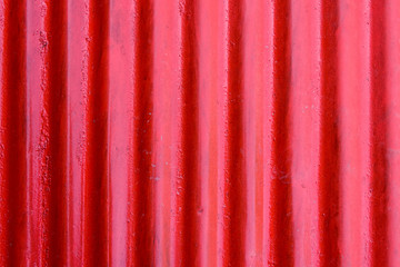 Red corrugated steel sheet texture