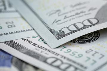 One hundred dollars bills macro