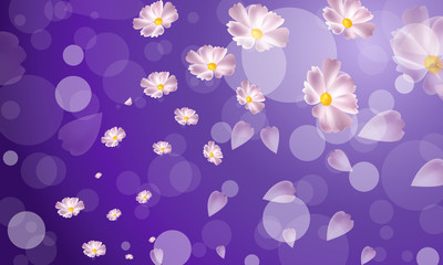 Fons vector circles and flowers