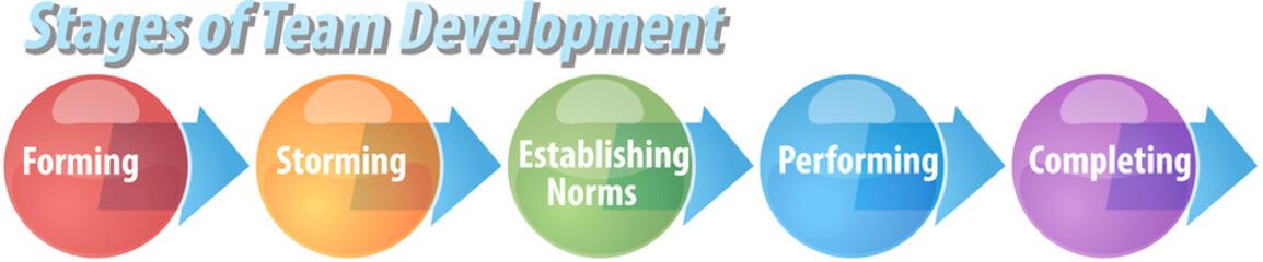 Team development business diagram illustration