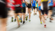 Leinwanddruck Bild - Motion blurred runner